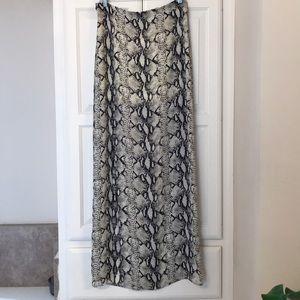 NWT Gianni Bini Snake-Print Maxi Skirt